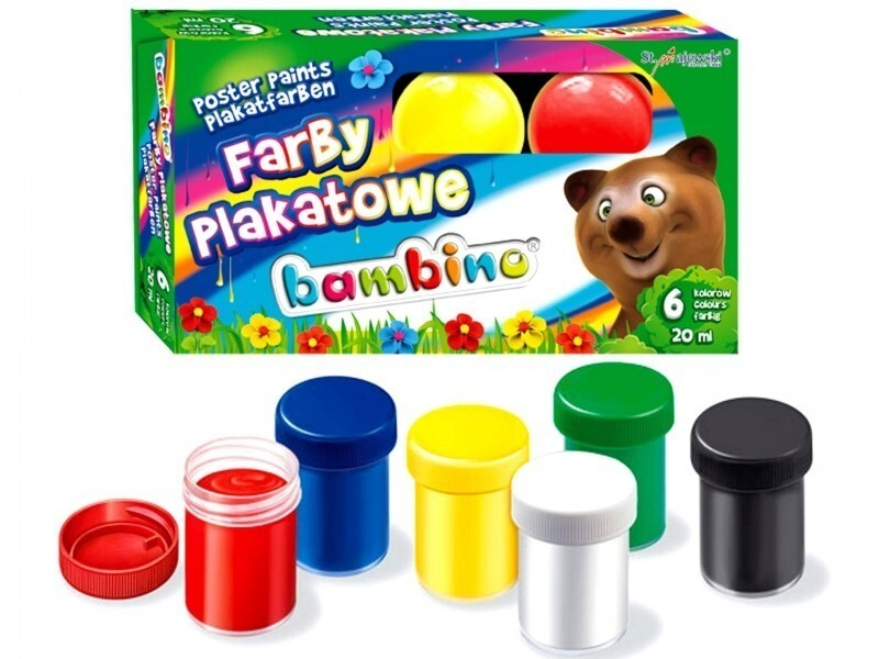 Farby Plakatowe Bambino 6 Kol 20 Ml Biuros